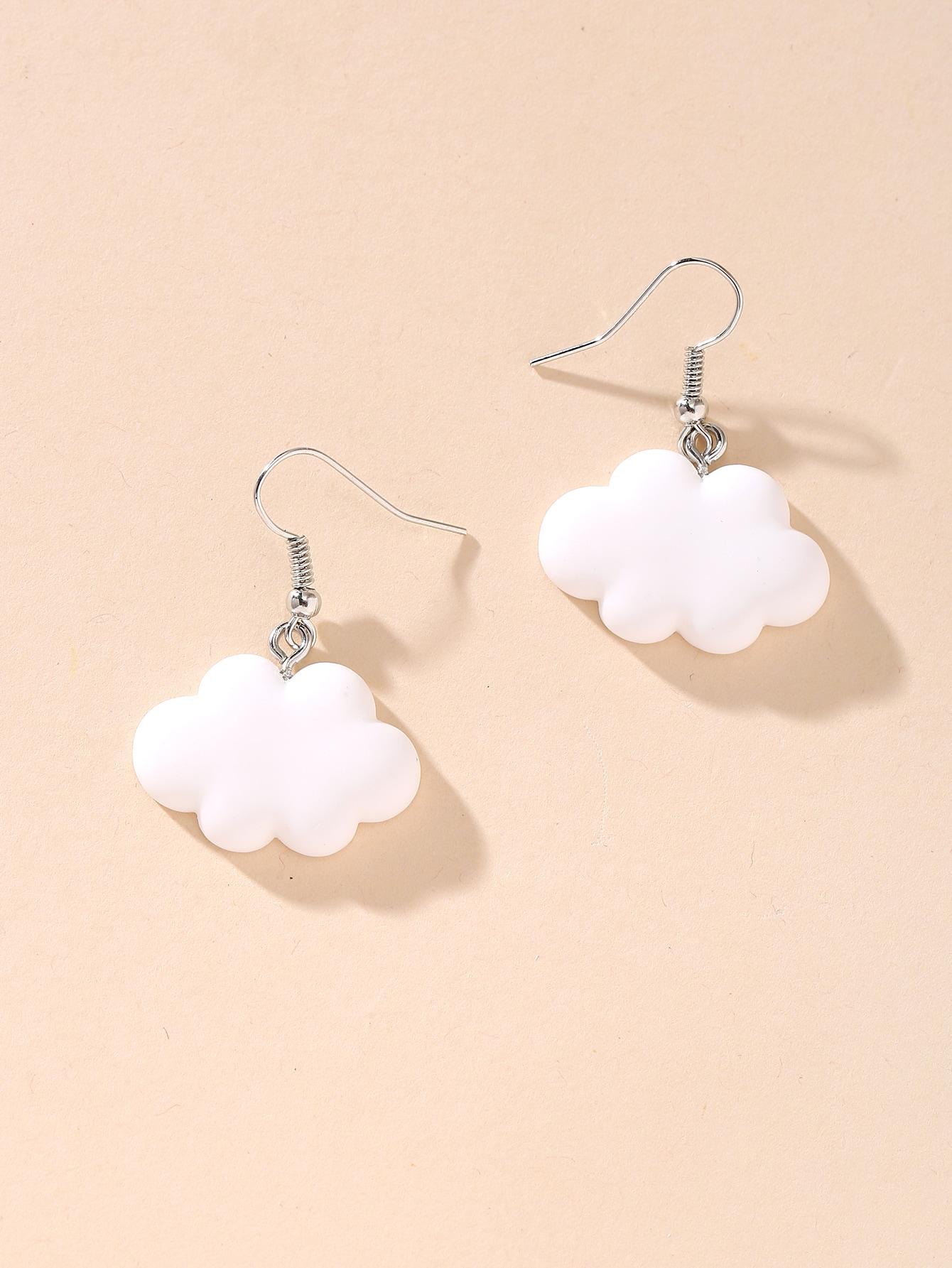 Cloud Charm Drop Earrings thumbnail