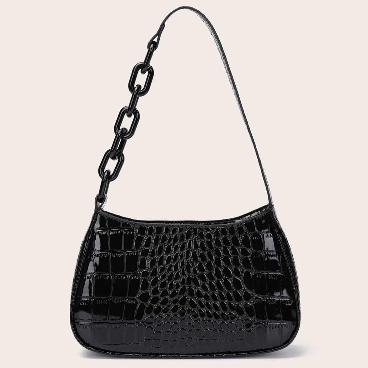 Рельефная сумка-багет