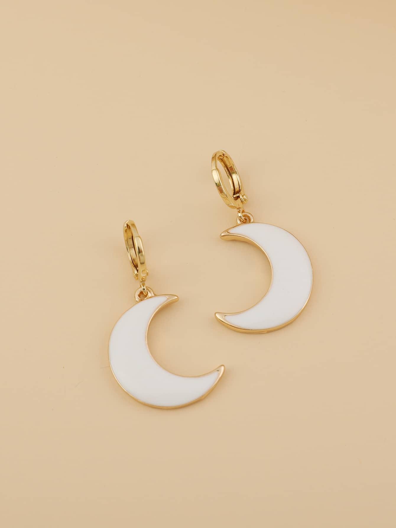 Moon Charm Drop Earrings thumbnail