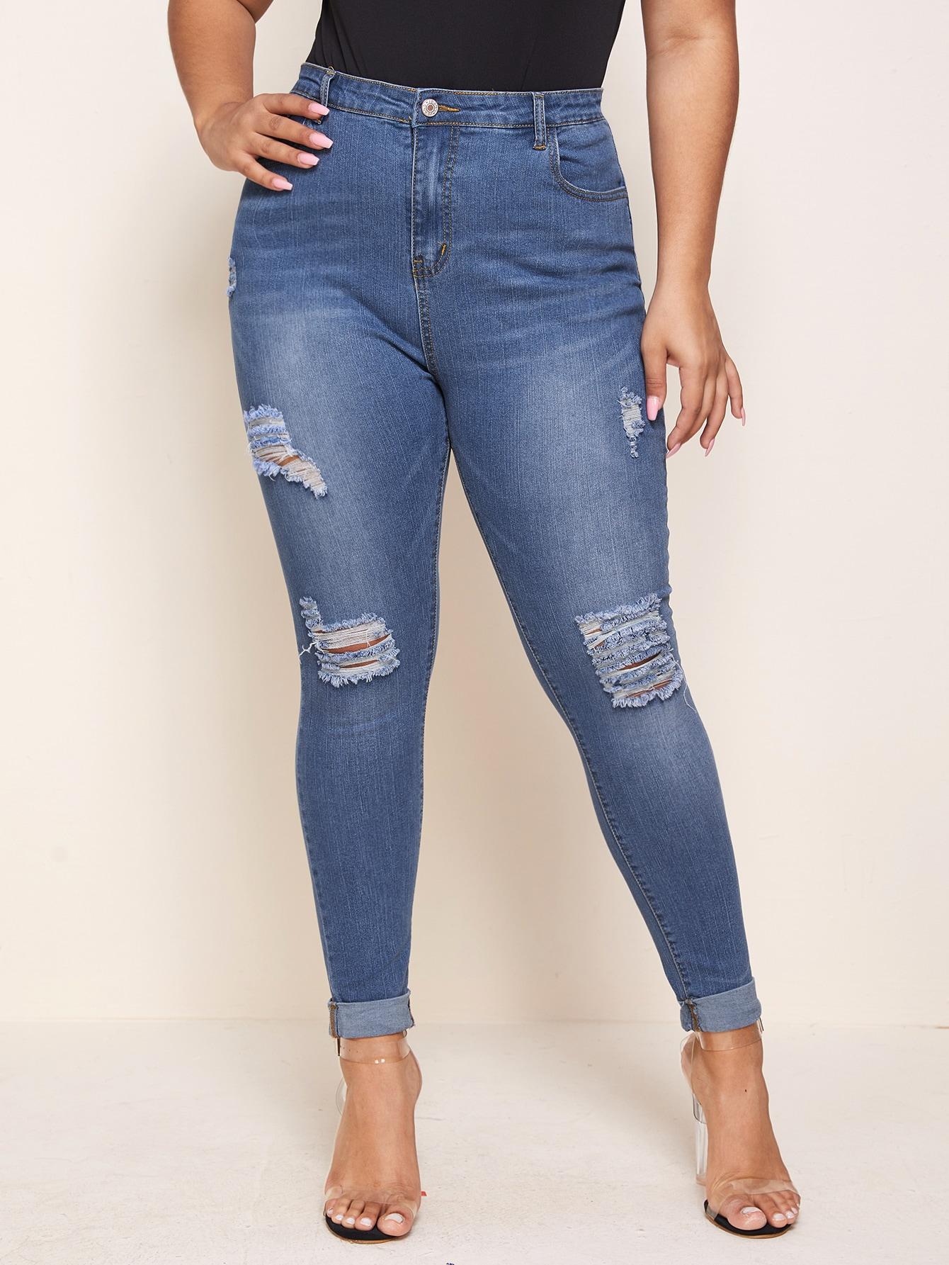 Plus Ripped Skinny Jeans thumbnail