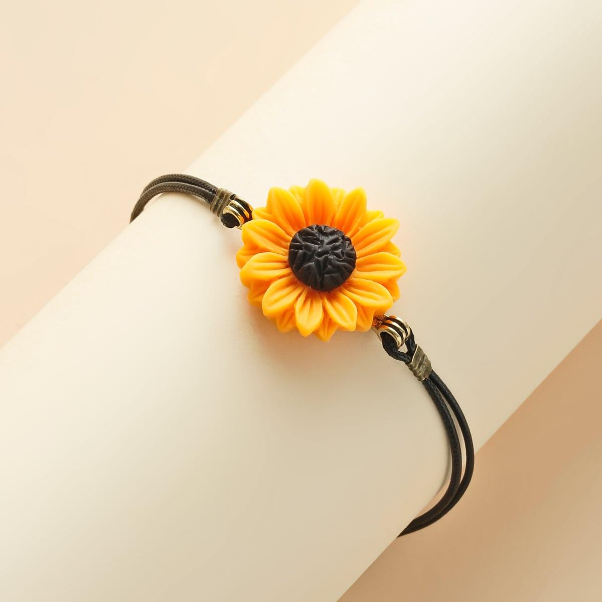 Mädchen Armband mit Sonneblumen Dekor