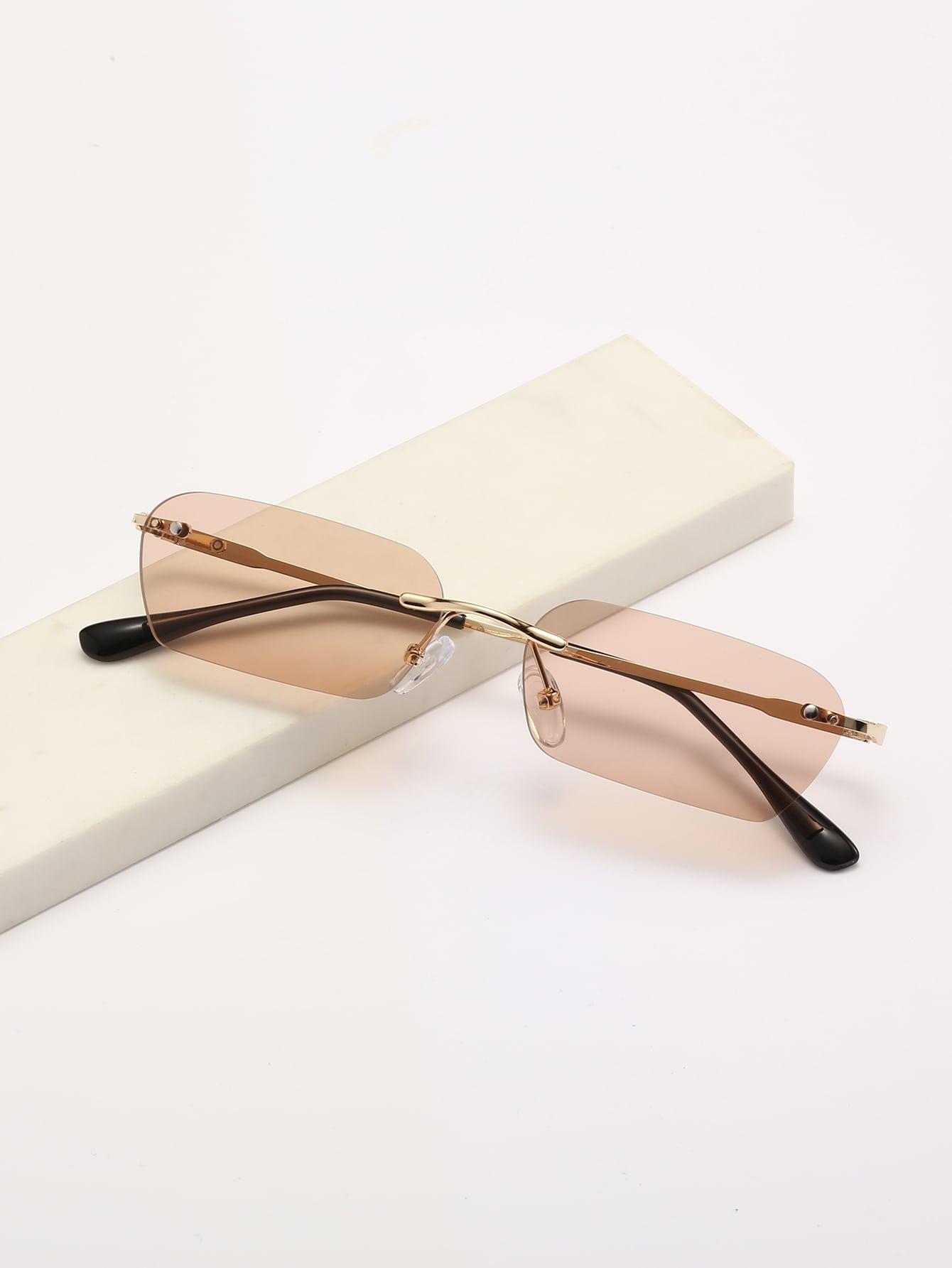 Rimless Square Frame Sunglasses thumbnail