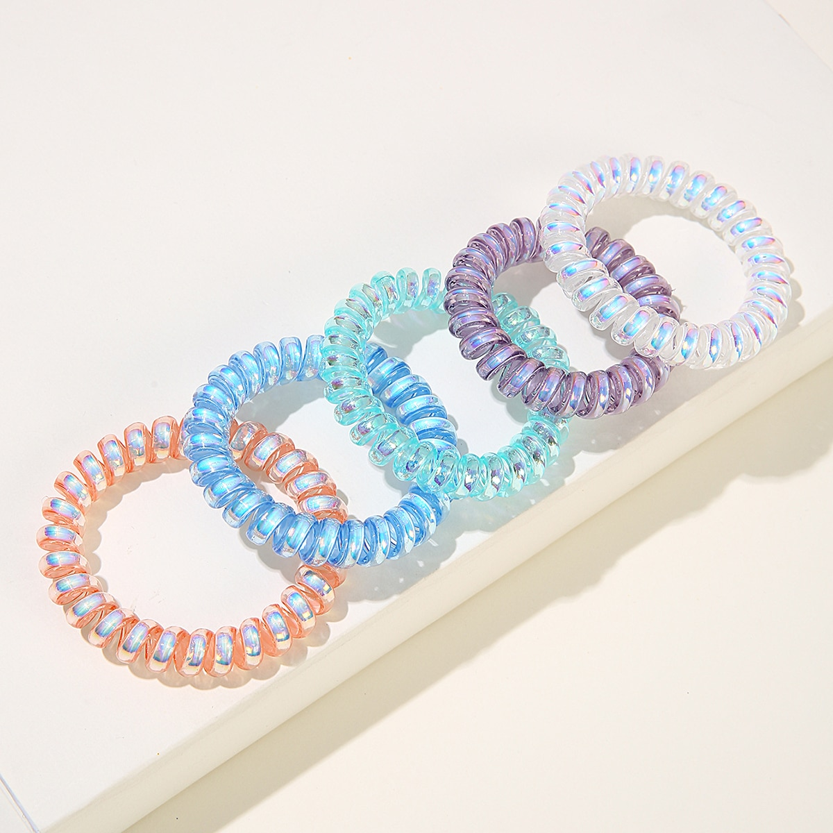 Simple Telephone Line Hair Tie, SHEIN  - buy with discount