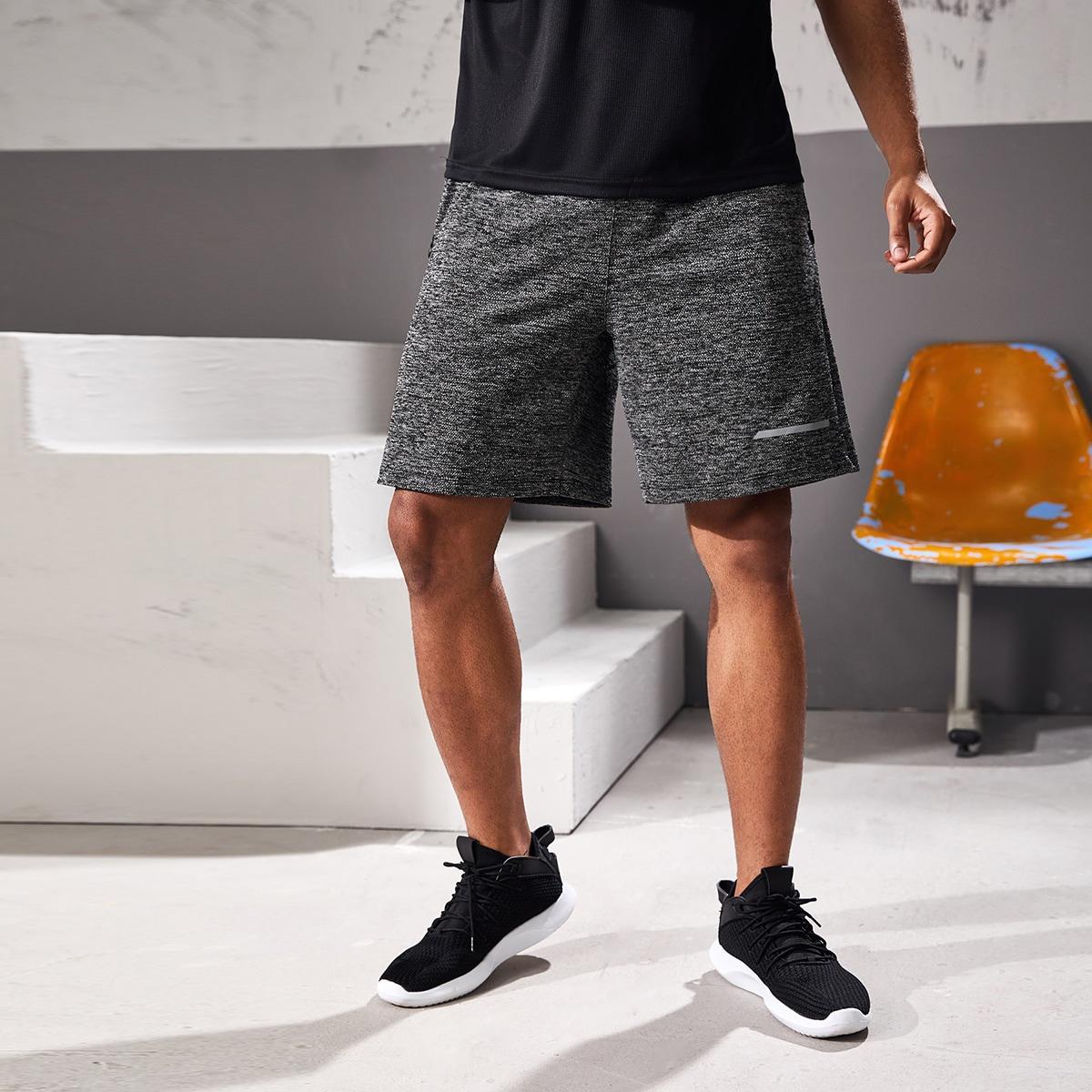 Темно-серый спортивный мужские спортивные шорты