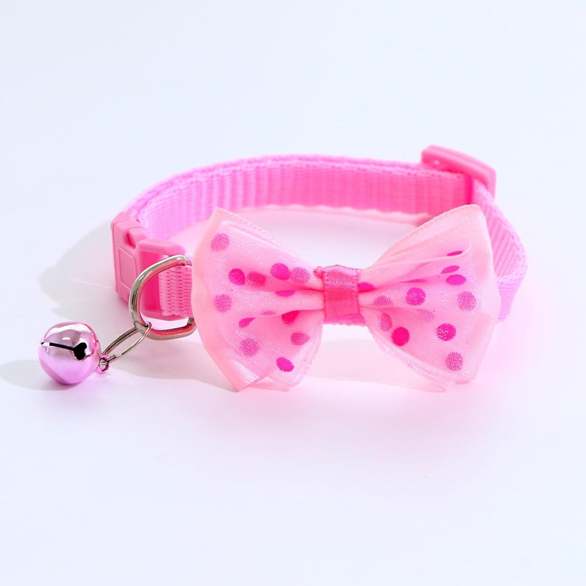 1 Stück Katzenhalsband mit Schleife Dekor