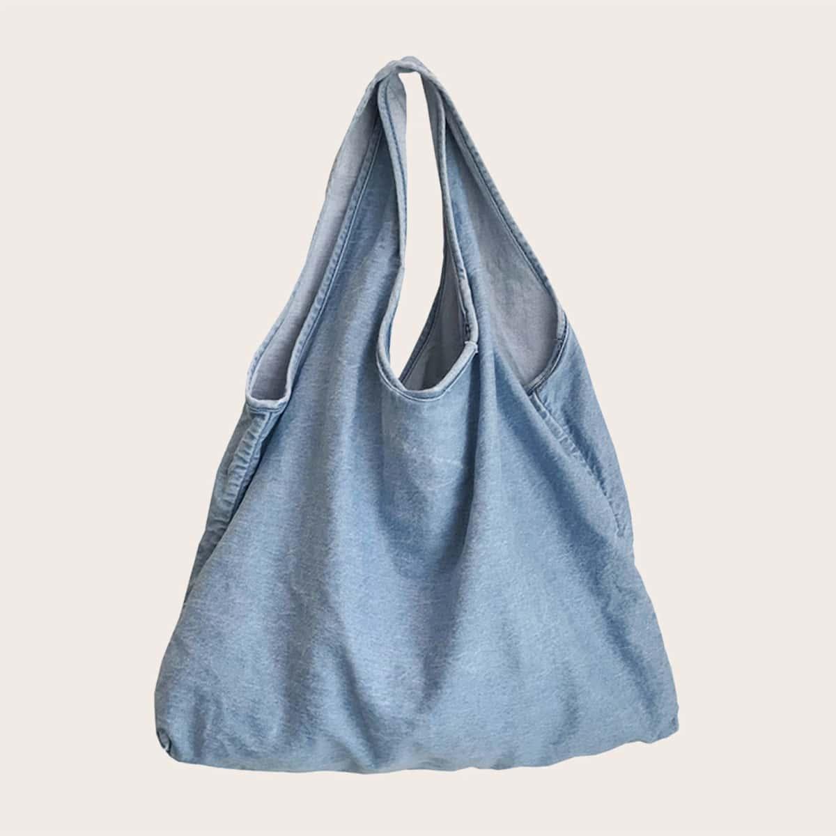 Denim Hobo Bag, SHEIN  - buy with discount