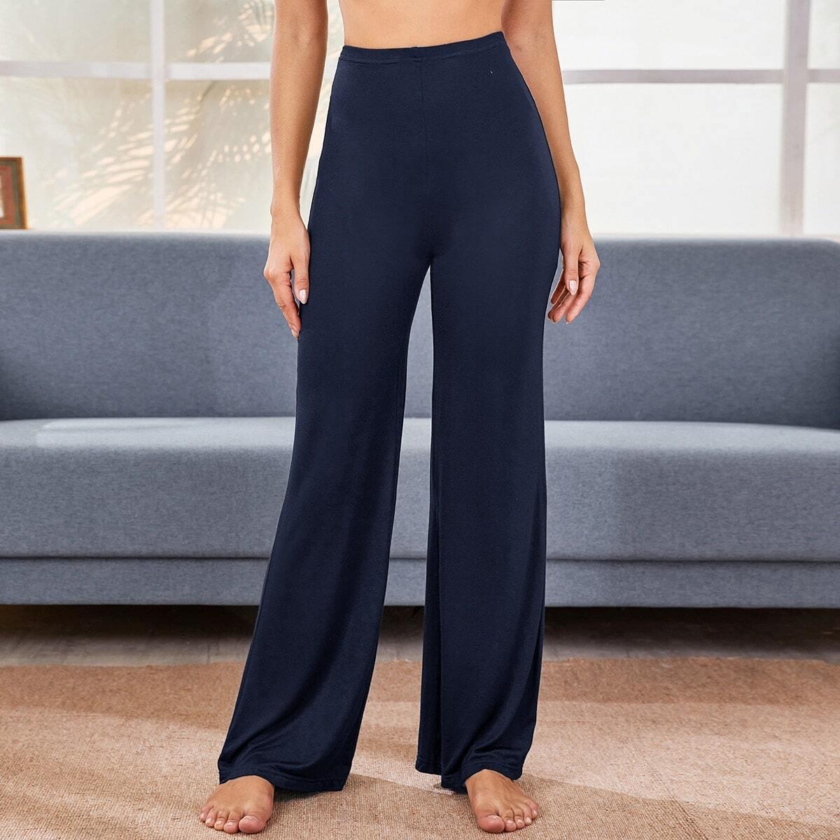 Однотонные расклешенные брюки