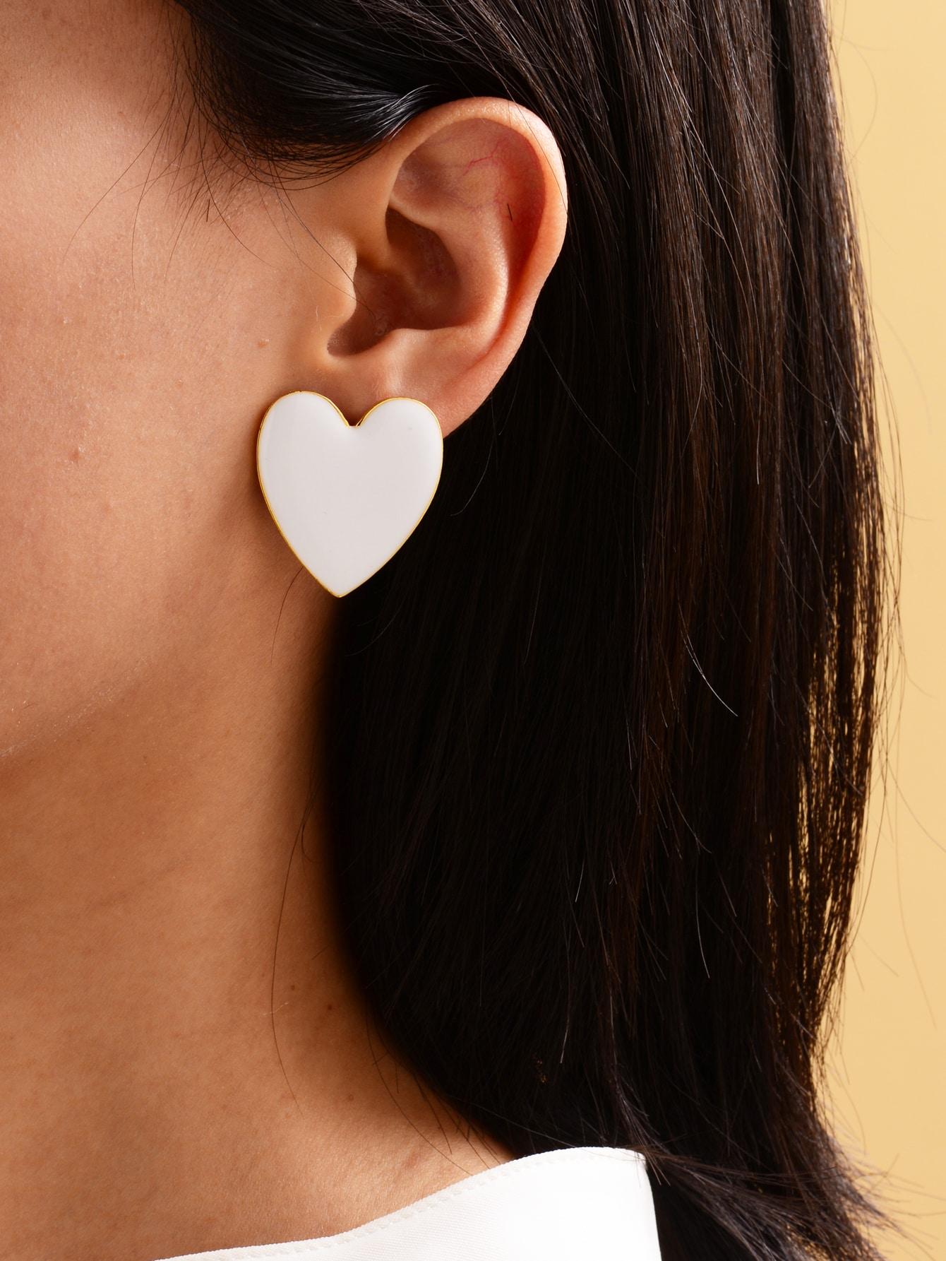 Heart Shaped Stud Earrings thumbnail