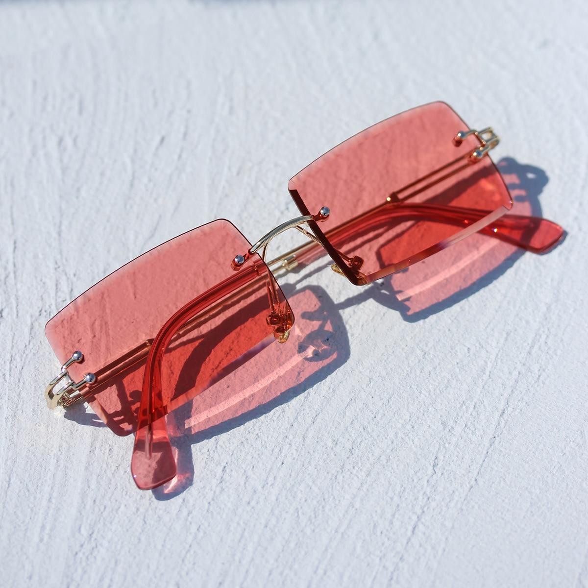 Прямоугольные солнечные очки без оправы