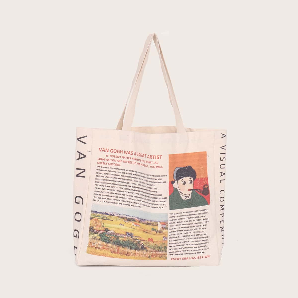 Сумка-шоппер с принтом газеты
