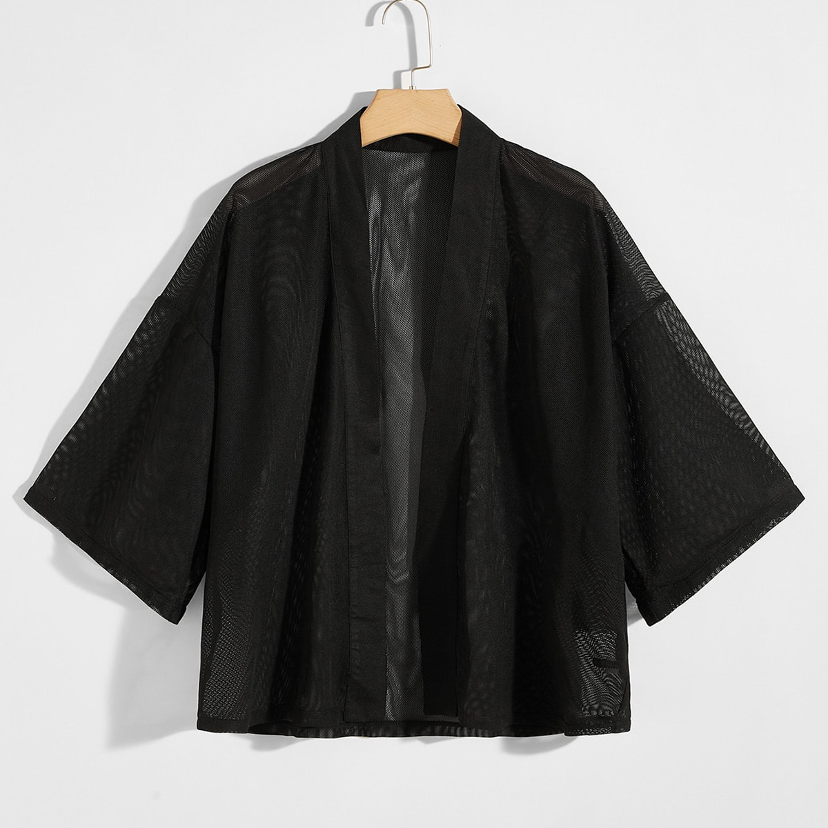 Мужская прозрачная сетчатая рубашка