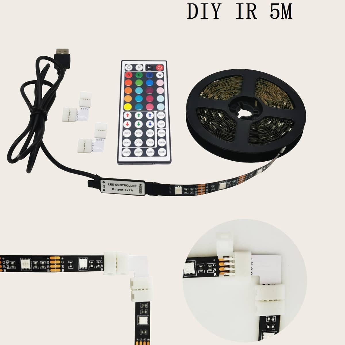 1 Stück 44 Tasten 5M Lampe mit Fernbedienung
