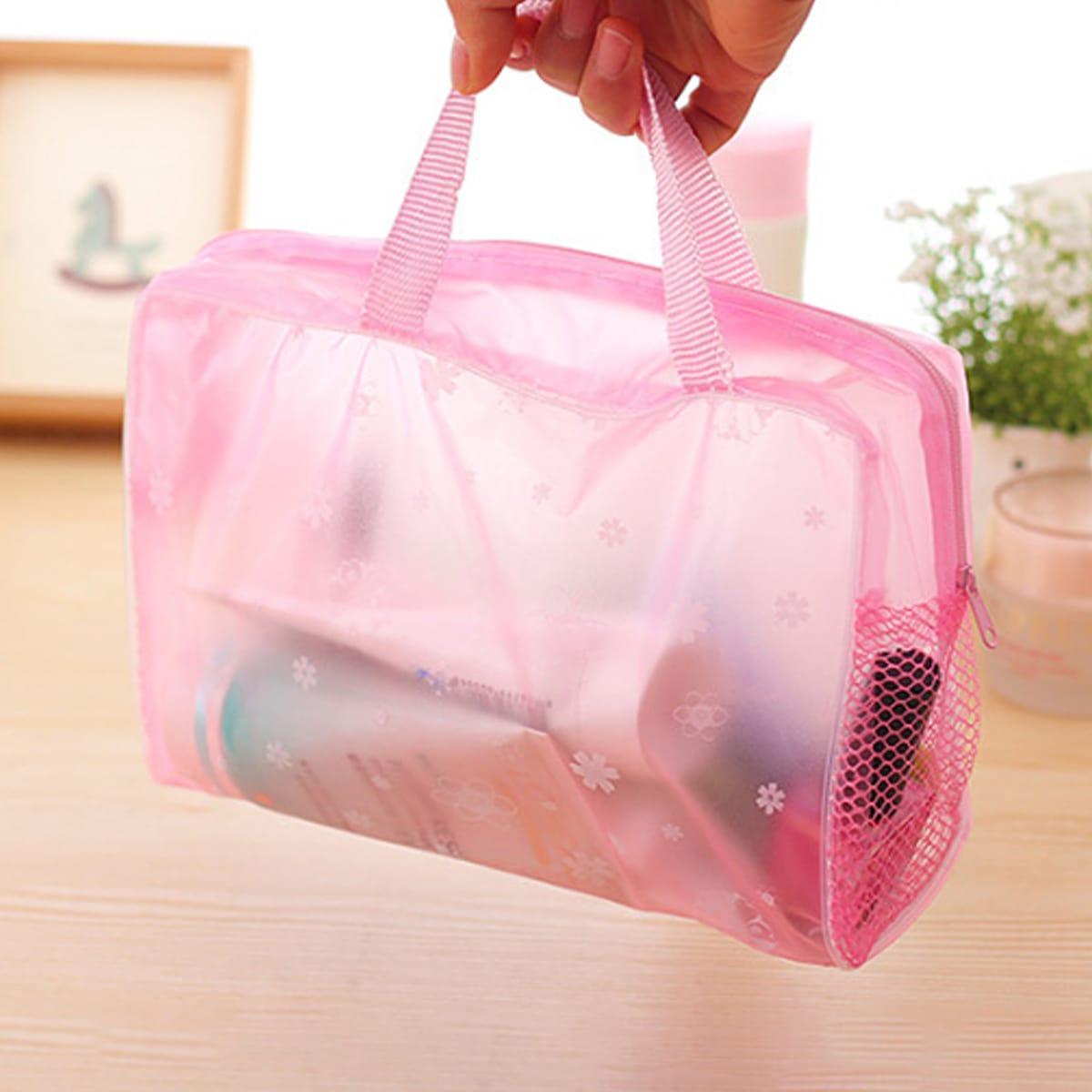 Дорожная сумка для хранения с принтом цветка