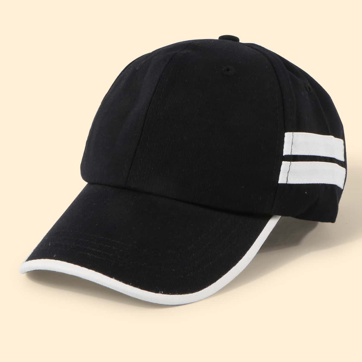 Männer Baseball Kappe mit Streifen Muster