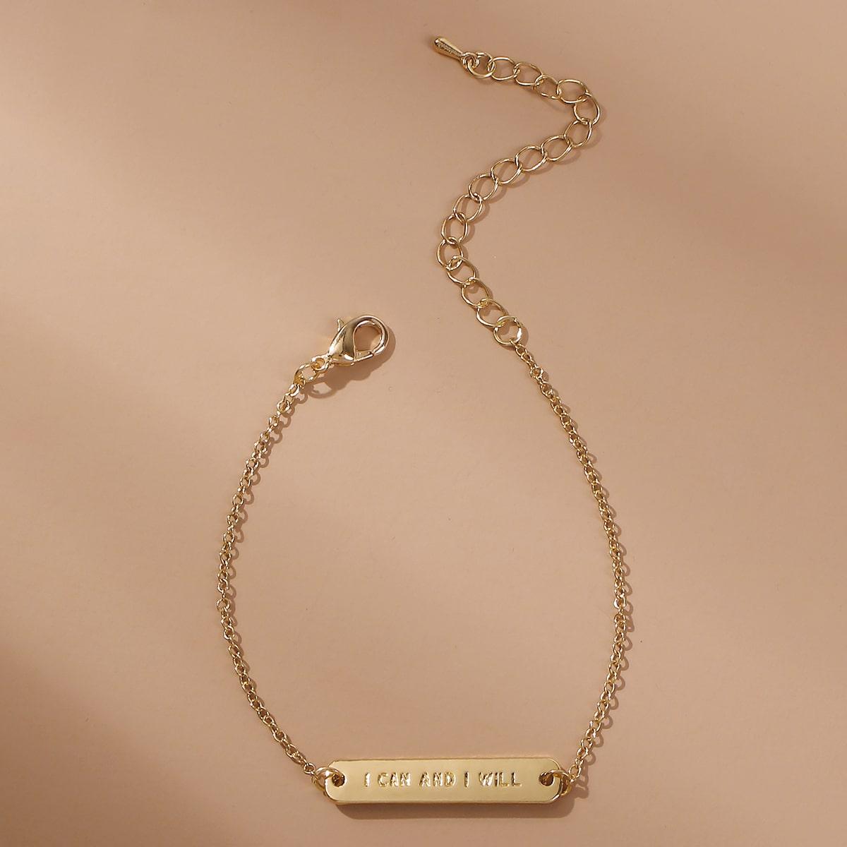 Armband mit Buchstaben Prägung