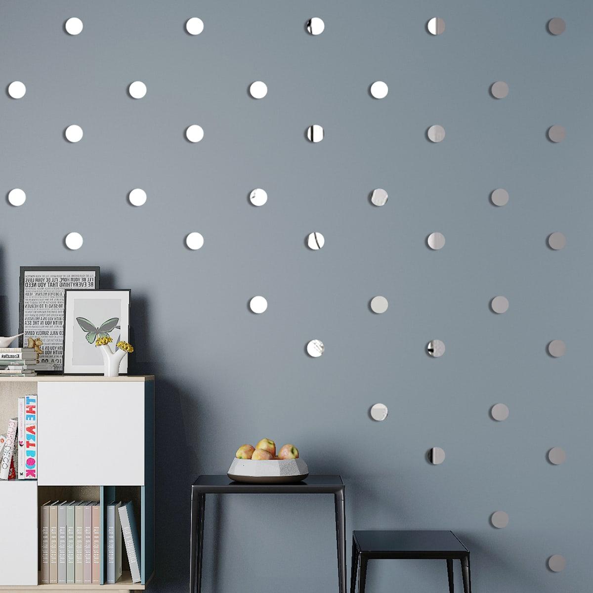 Наклейка на стену с круговым зеркалом 100шт