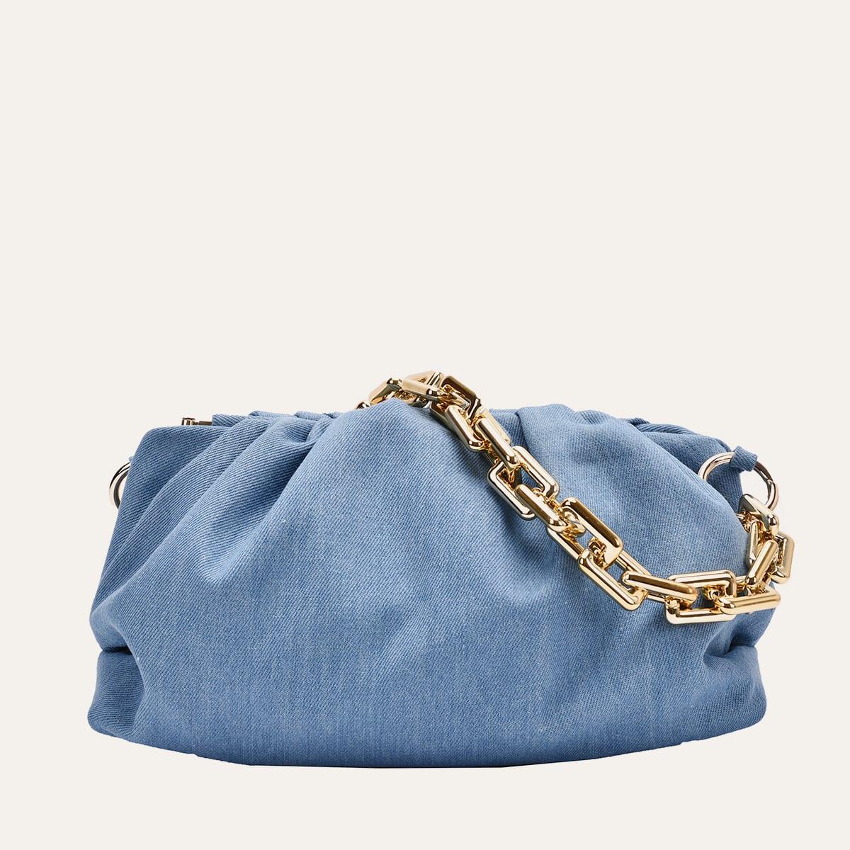 Джинсовая сумка с ручкой-цепочкой