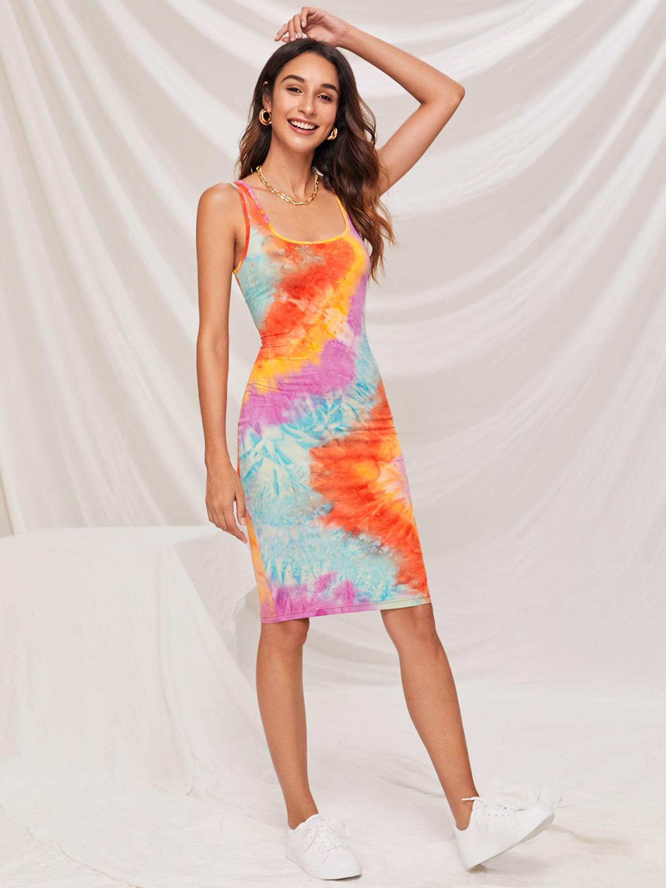 Tie Dye Bodycon Dress thumbnail