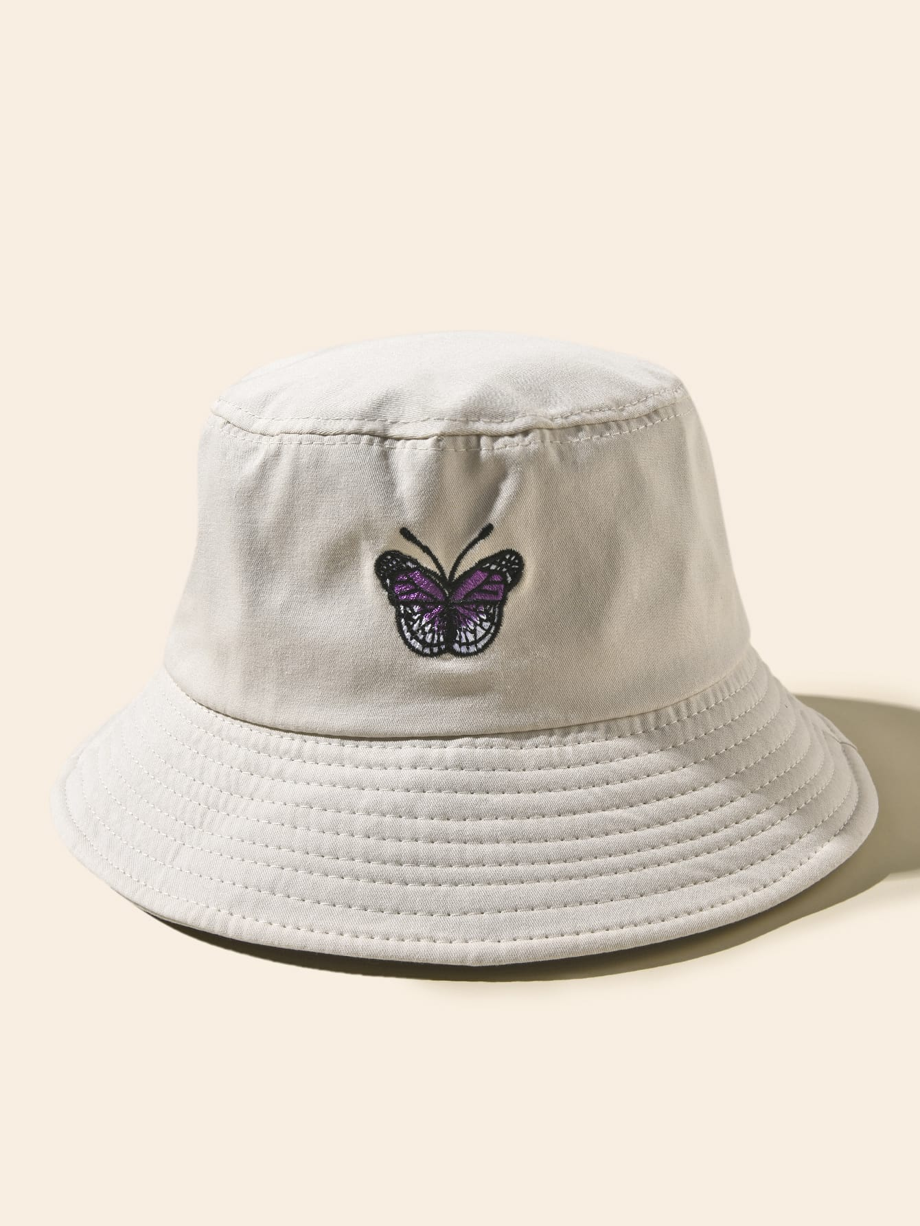 Butterfly Embroidery Bucket Hat Shein Uk