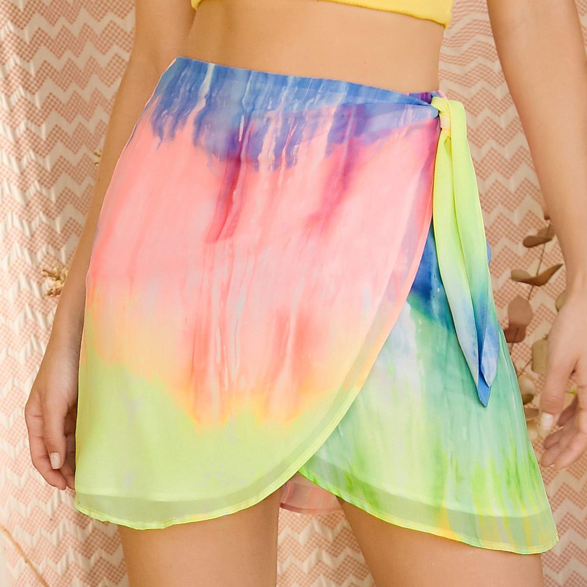 Разноцветная юбка на запах