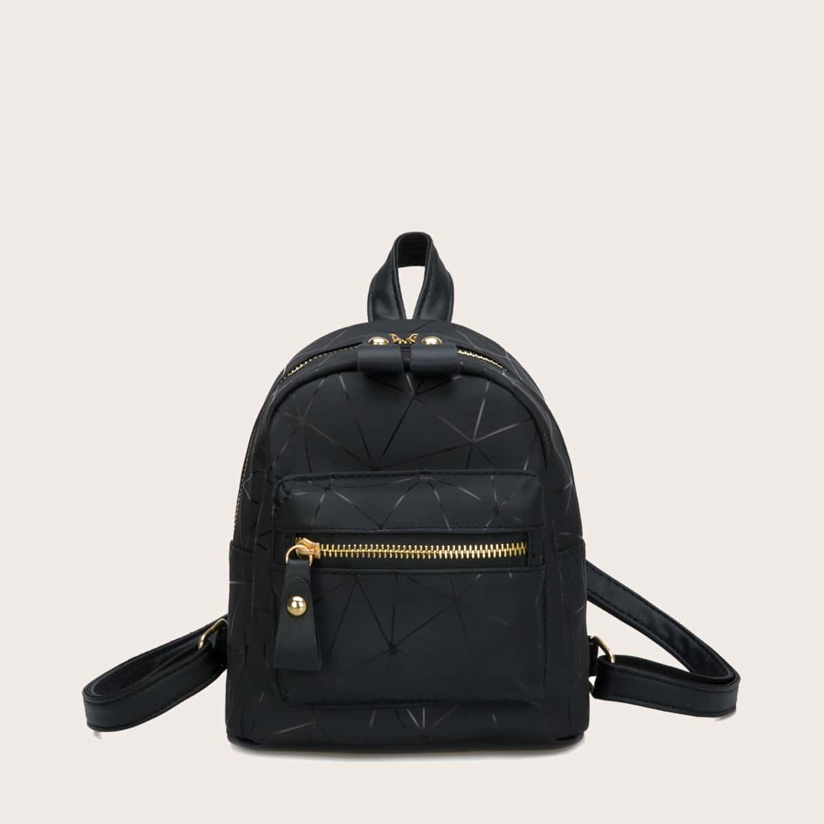Рюкзак с карманом и геометрическим узором