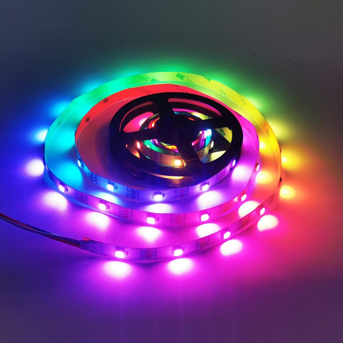 1 Stück 21 Tasten 2M Reifenförmige Lampe mit Fernbedienung