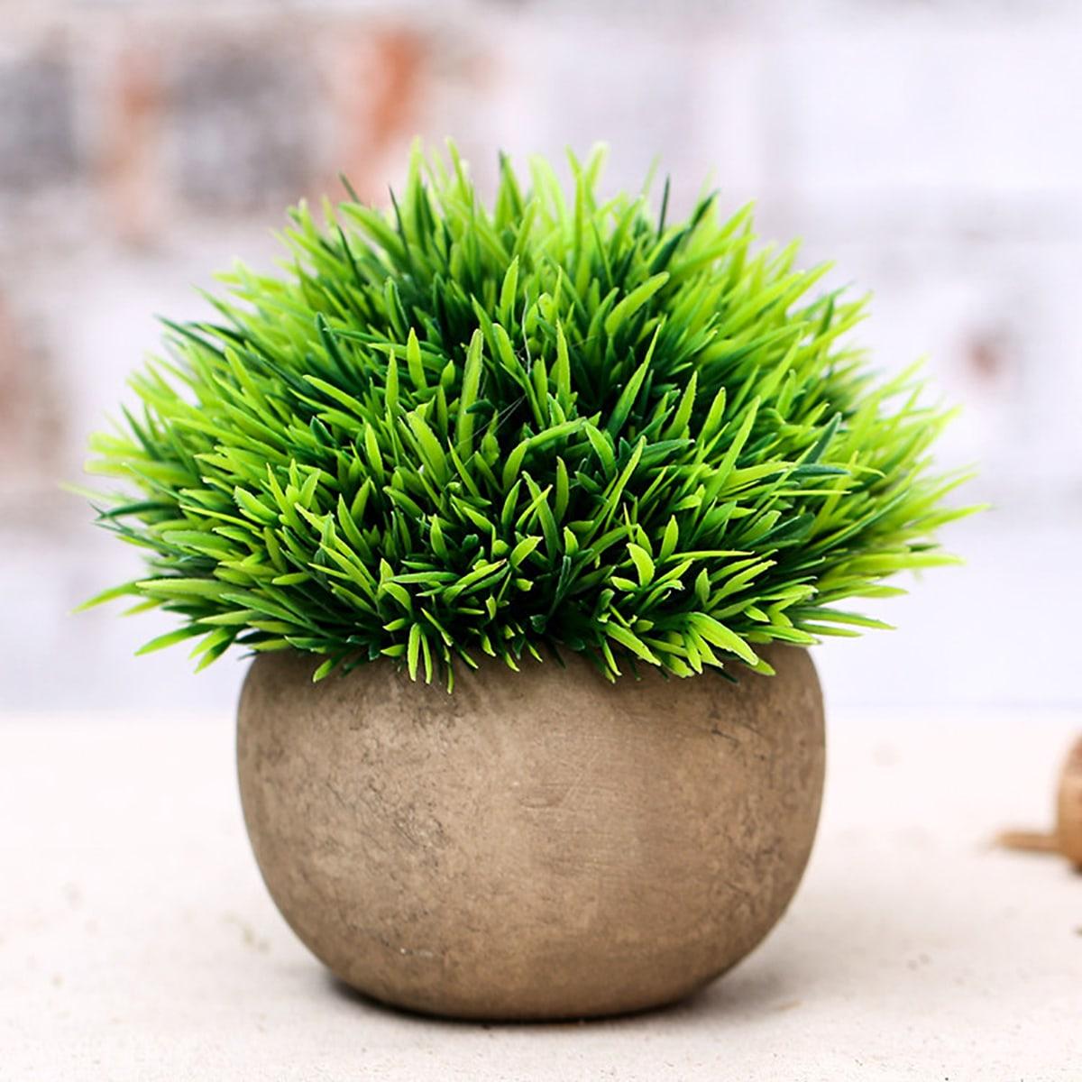Искусственная трава в горшках