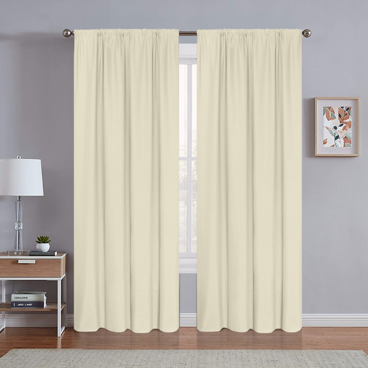 1 Stück einfarbiger Vorhang
