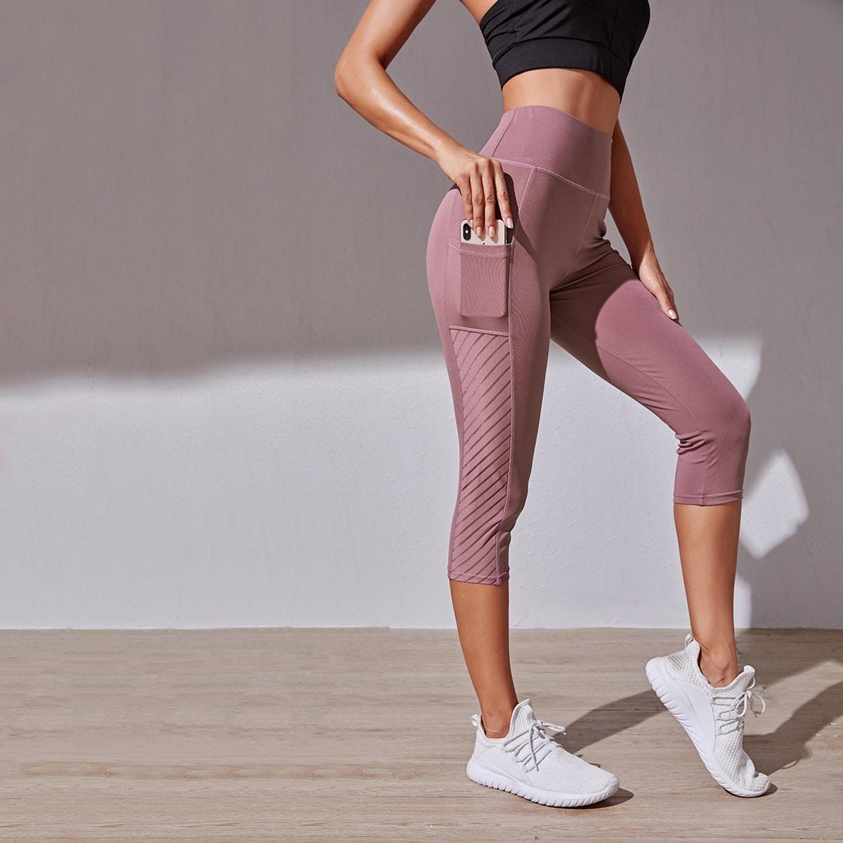 Пыльный Розовый с карманами Спортивные шорты