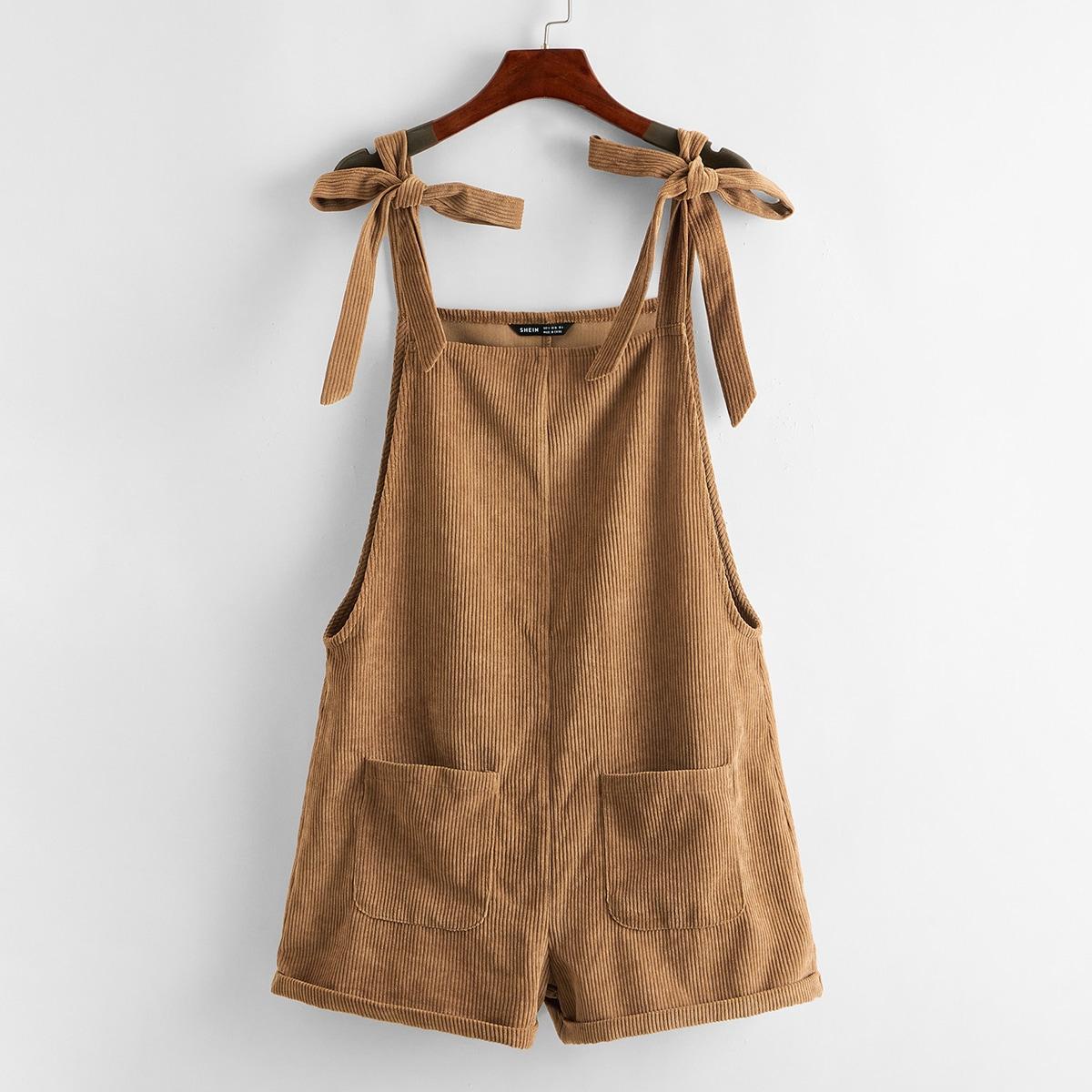 Вельветовые шорты с карманом