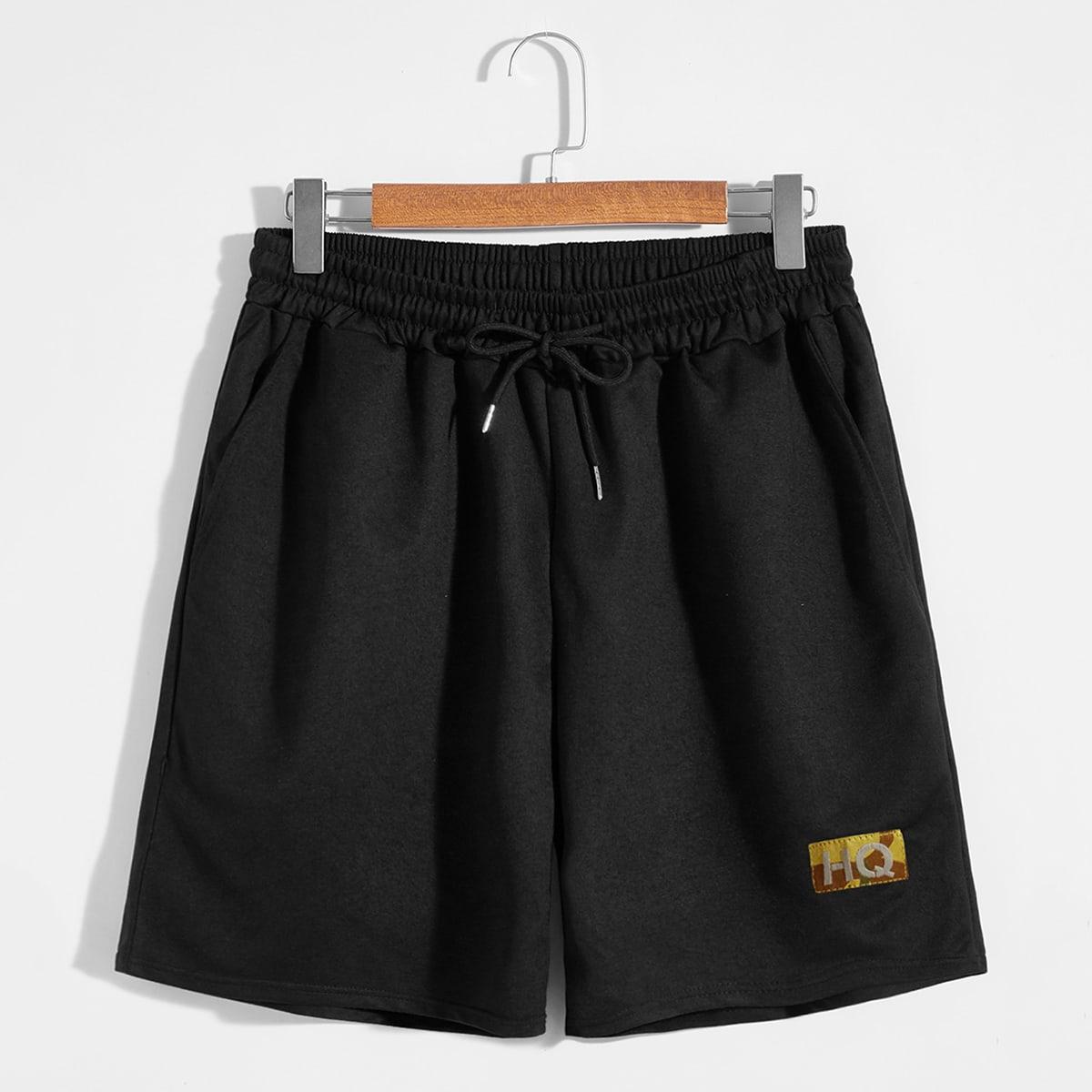 Аппликация буква институтский мужские шорты