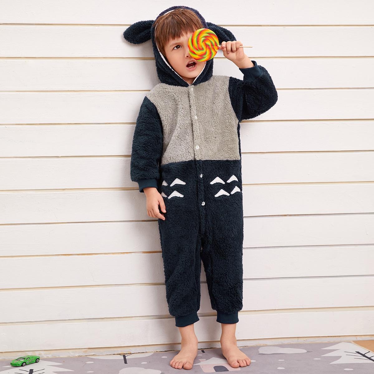 Однобортный Мультяшный принт милый Домашняя одежда для мальчиков