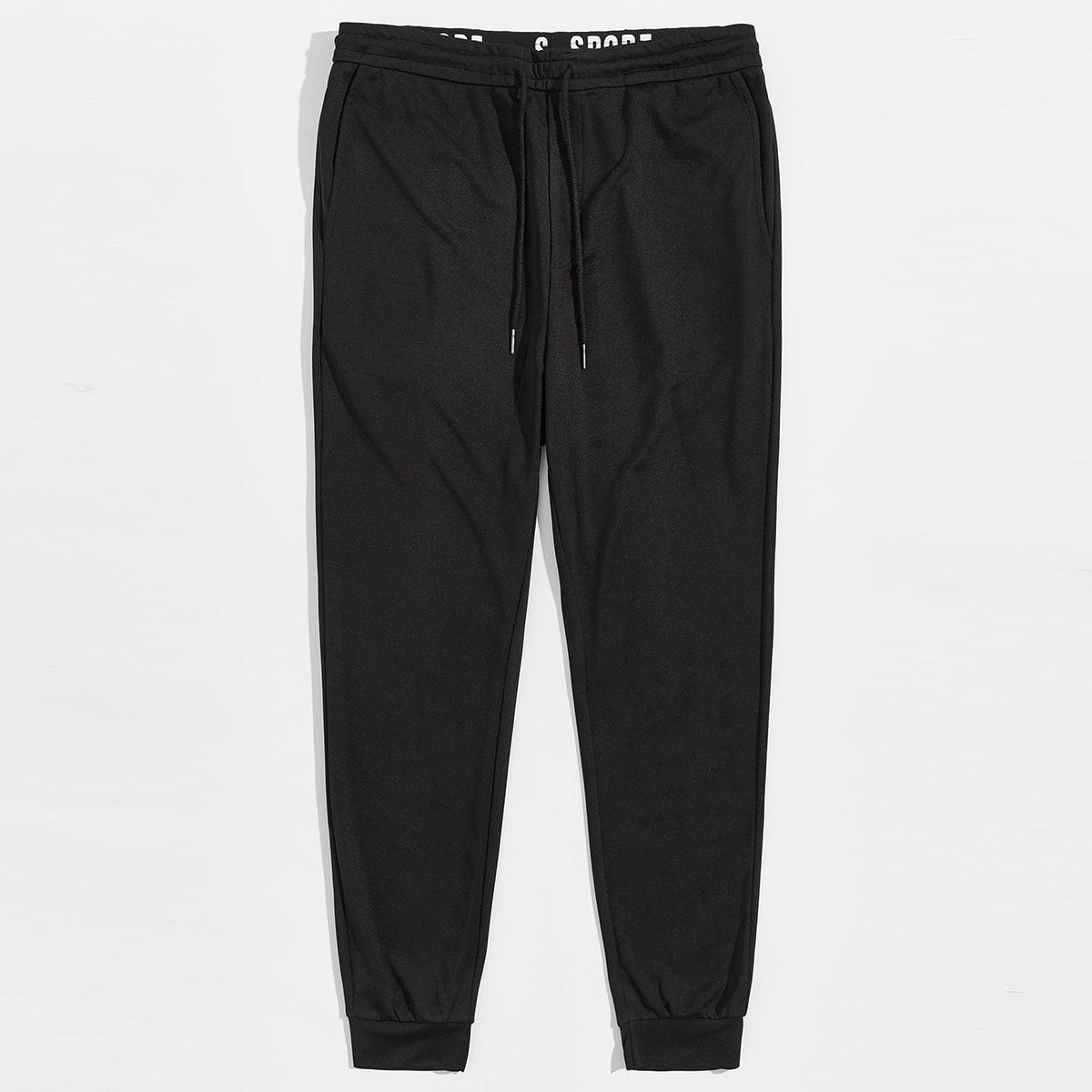Мужские брюки на кулиске с текстовой лентой