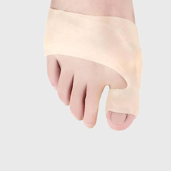1pair Toe Separator Thumb Valgus Protector, Apricot