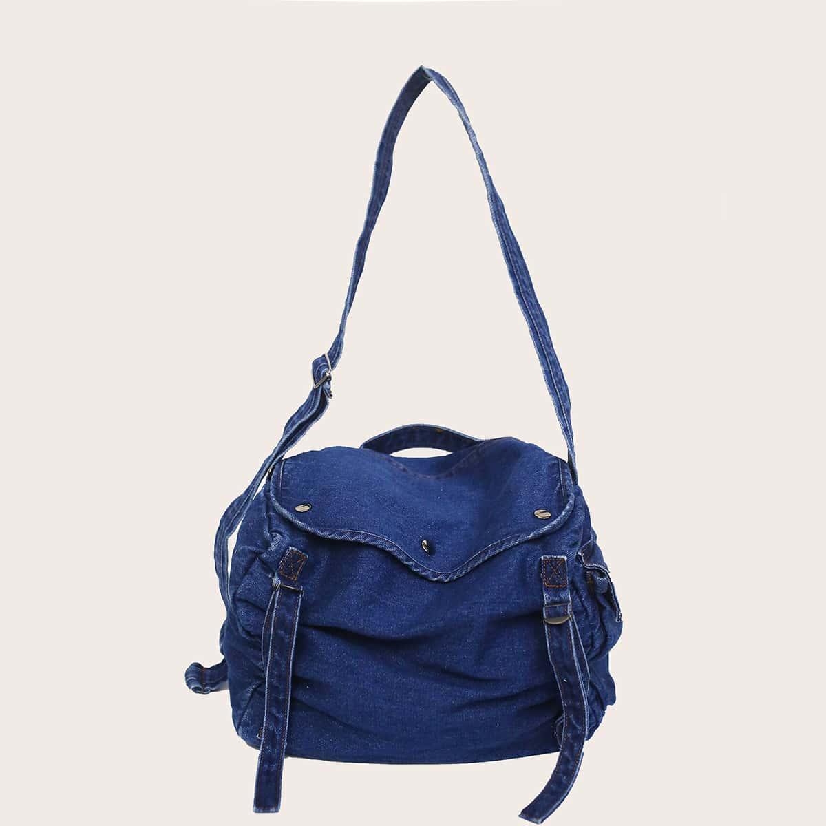 Джинсовая сумка-хобо