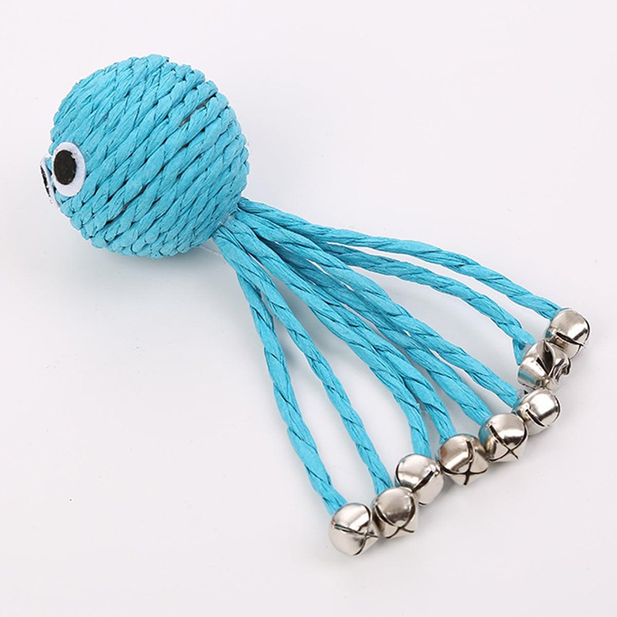 1 Stück Tintenfisch förmiges Spielzeug für Katzen mit Klingel