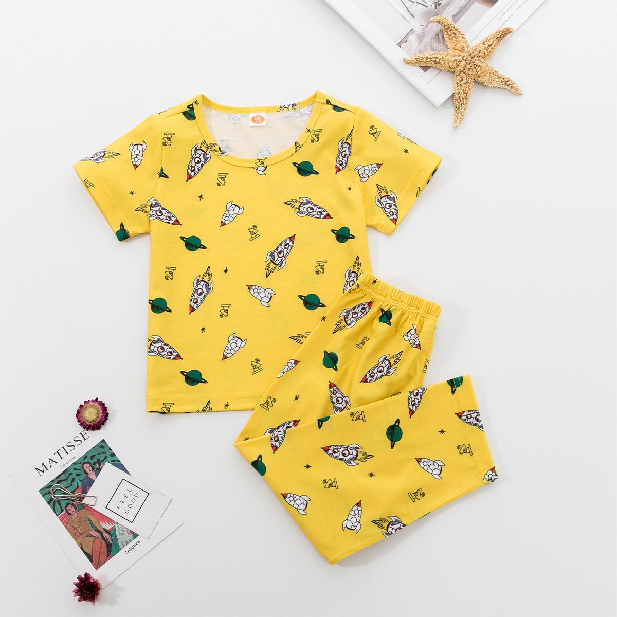 Принт всего тела милый домашняя одежда для мальчиков