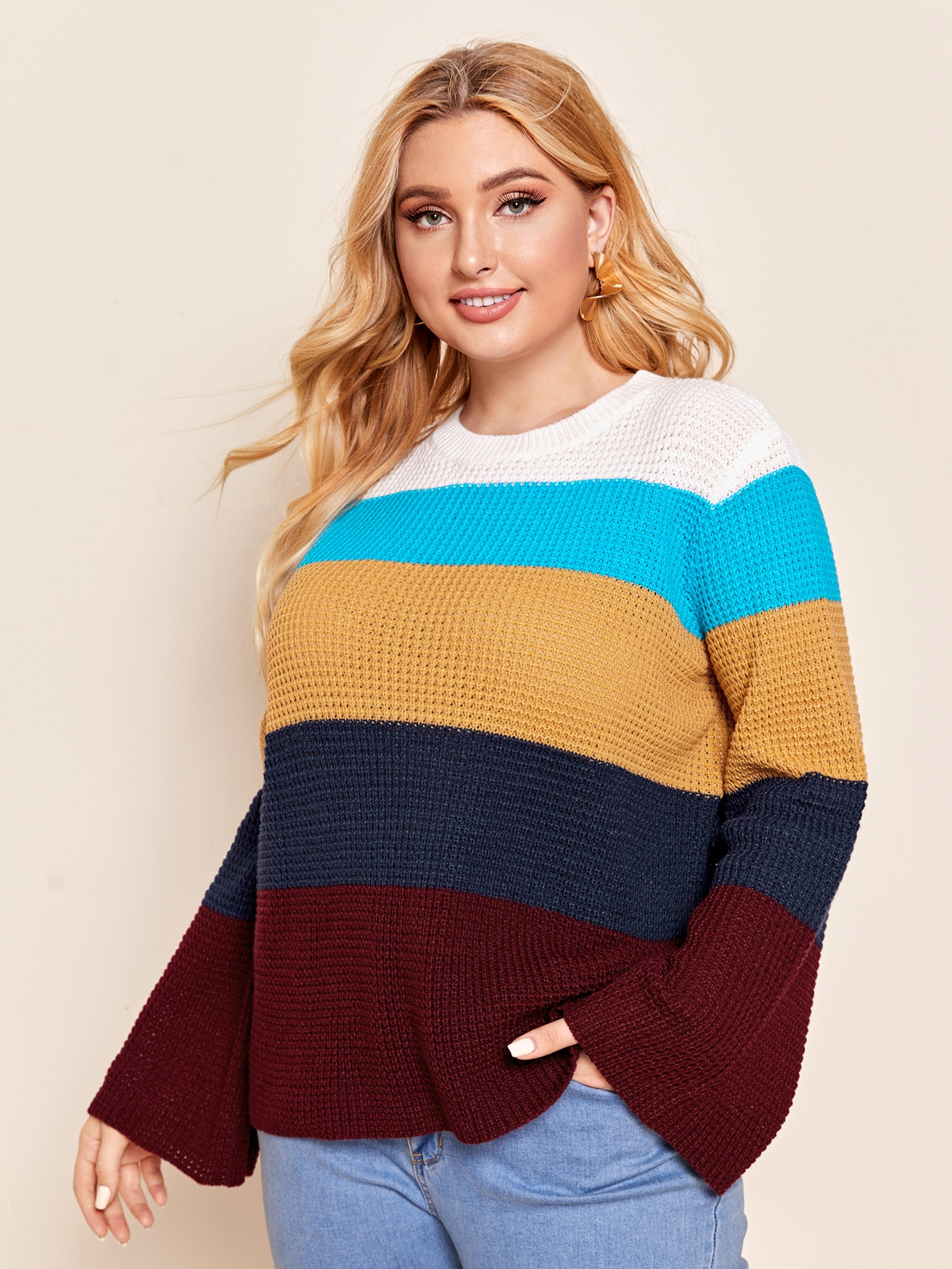 Plus Colorblock Sweater thumbnail