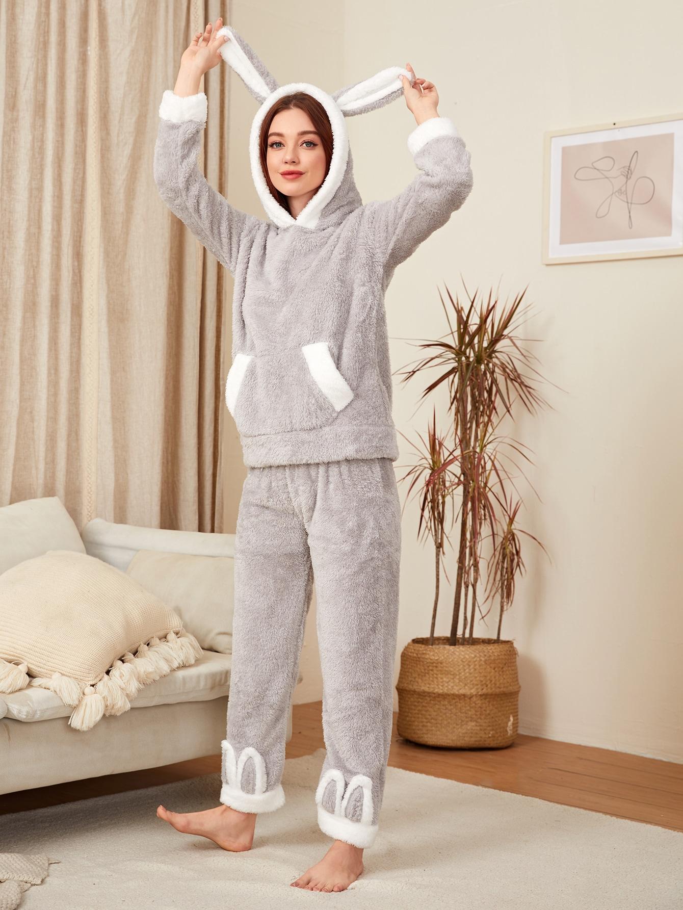 Kangaroo Pocket Flannel Pajama Set thumbnail