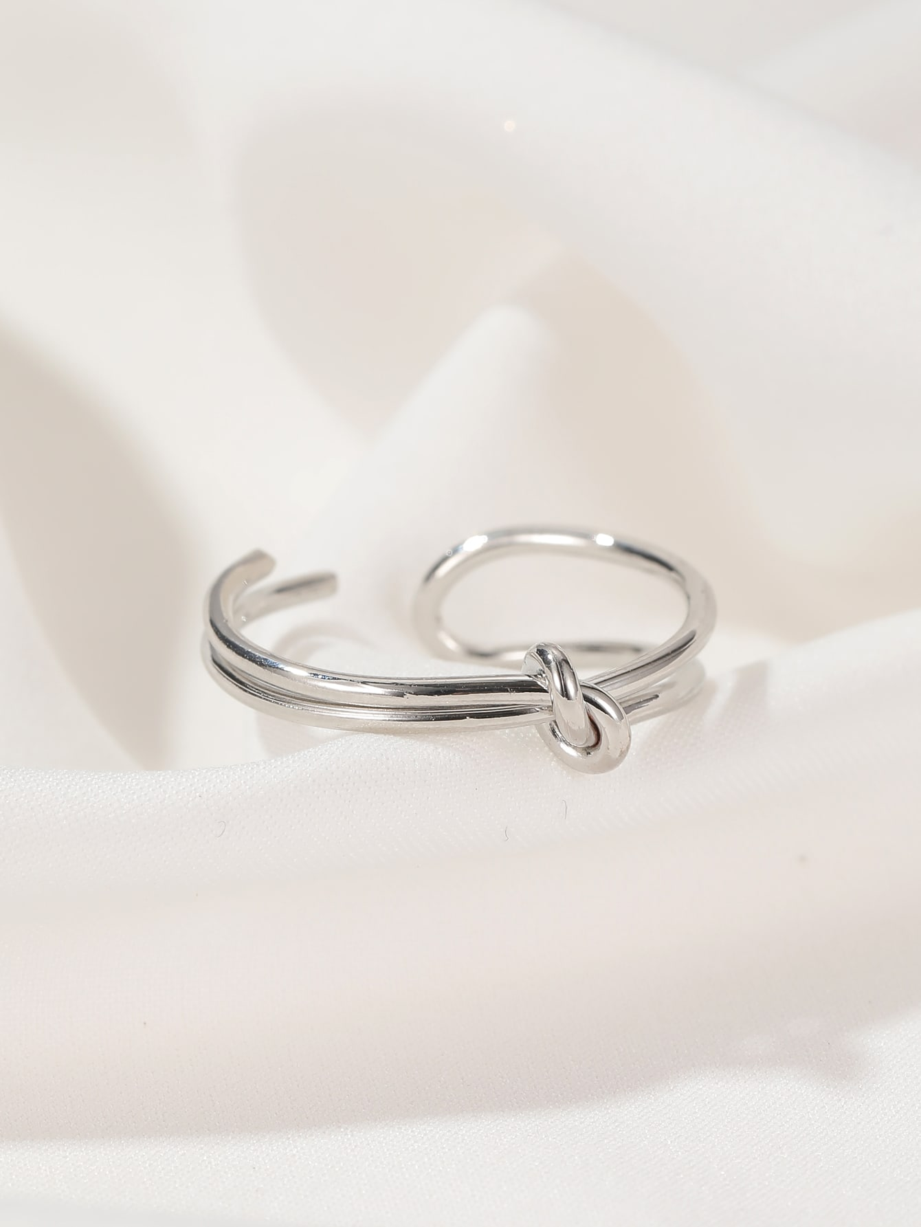 Metal Knotted Open Ring thumbnail