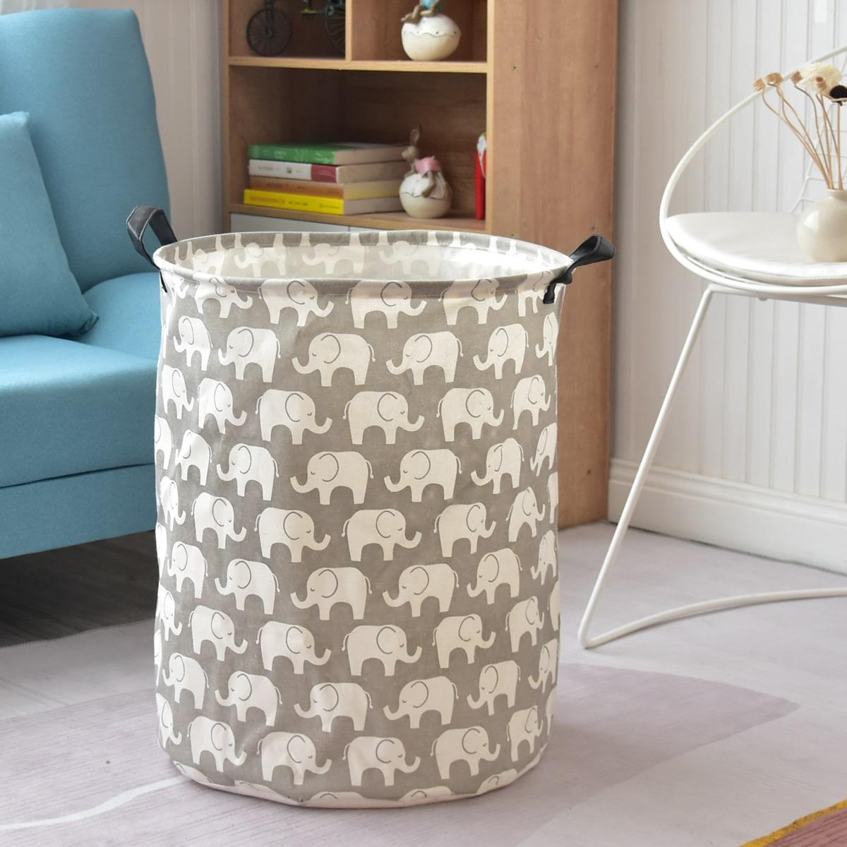 Корзинна для хранения одежды с принтом слона