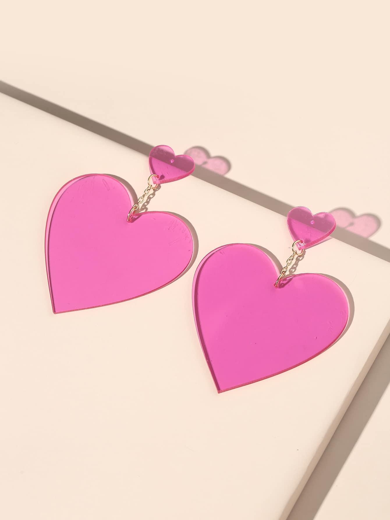 1pair Heart Drop Earrings thumbnail