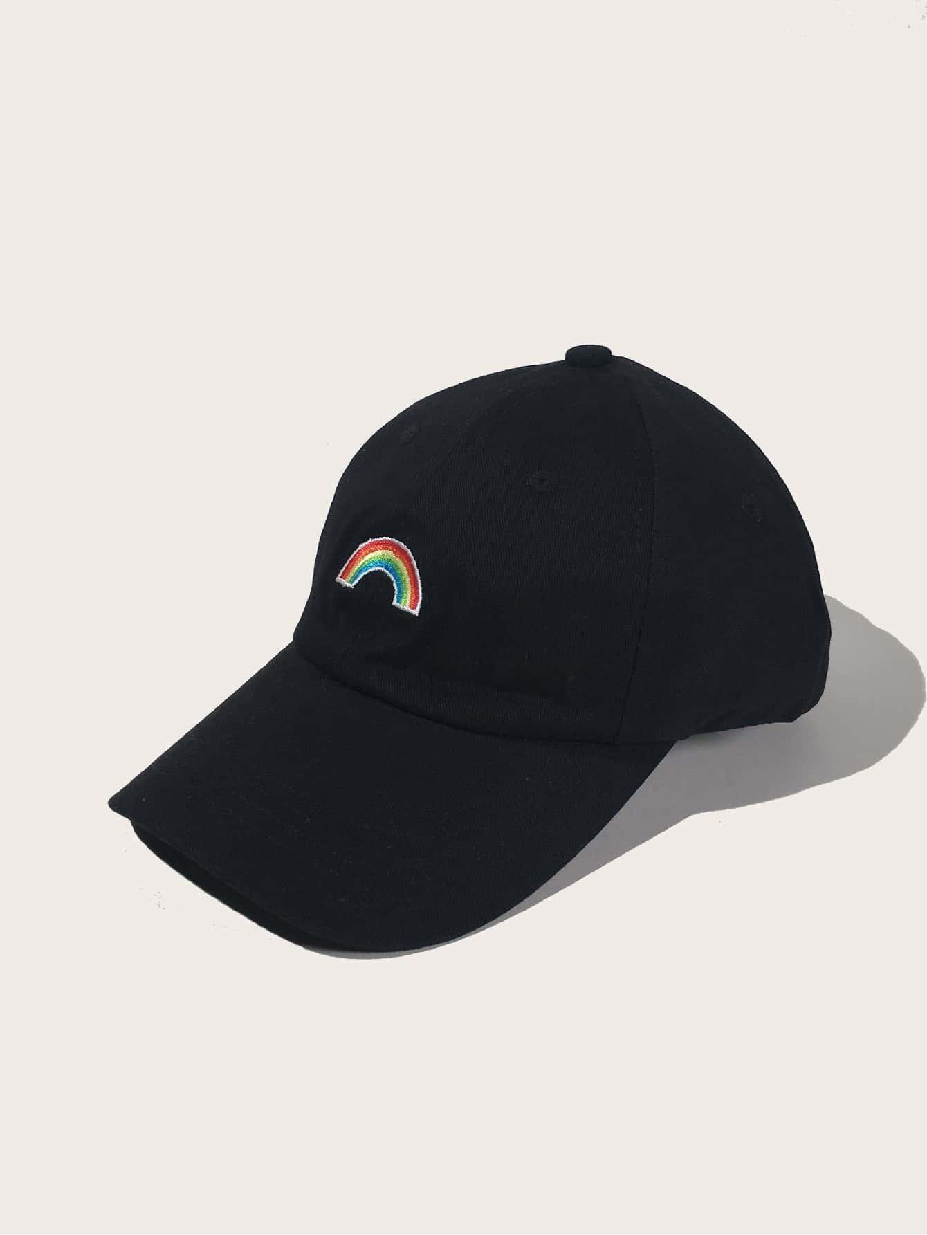 Rainbow Striped Embroidery Baseball Cap thumbnail