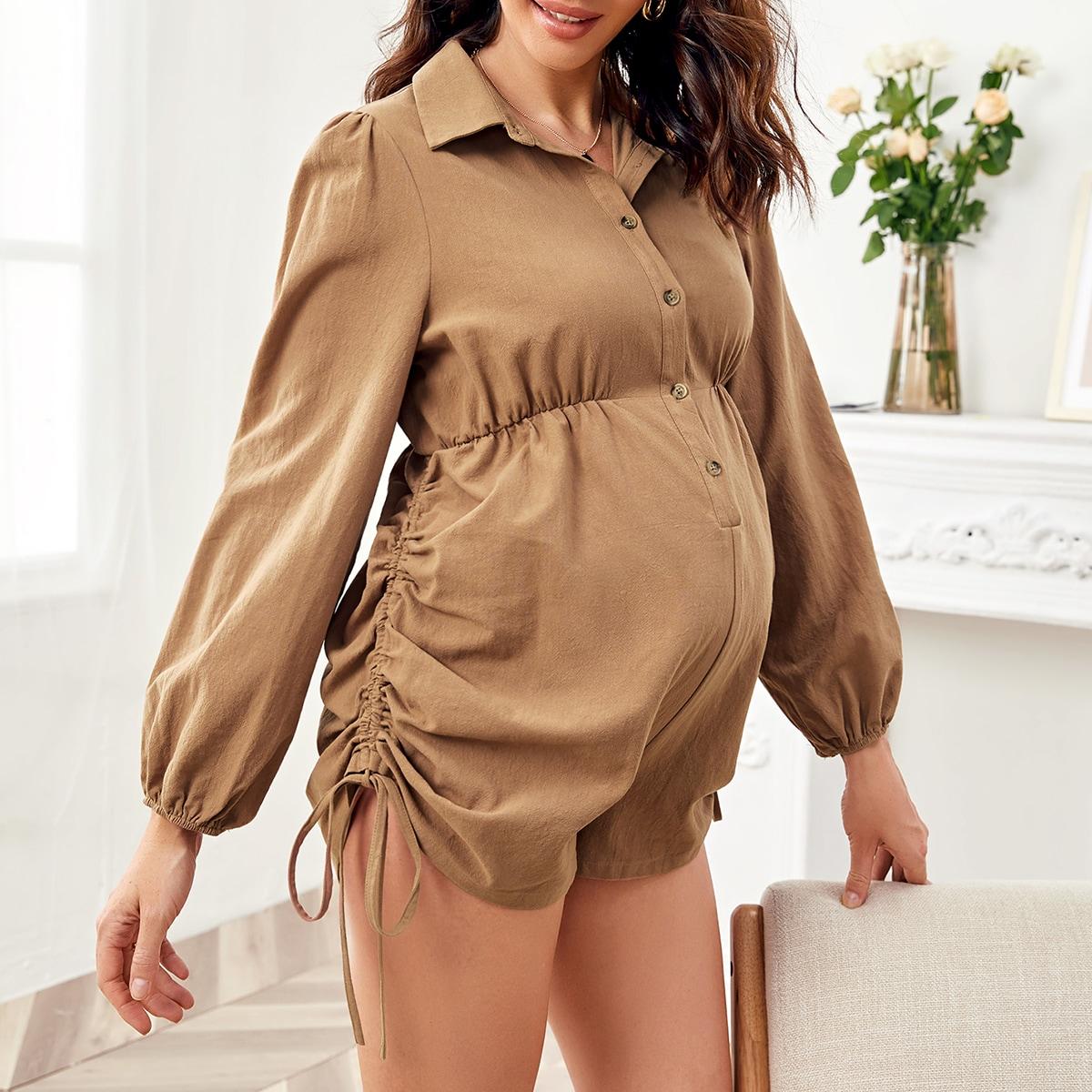 Комбинезон на кулиске с оригинальным рукавом для беременных
