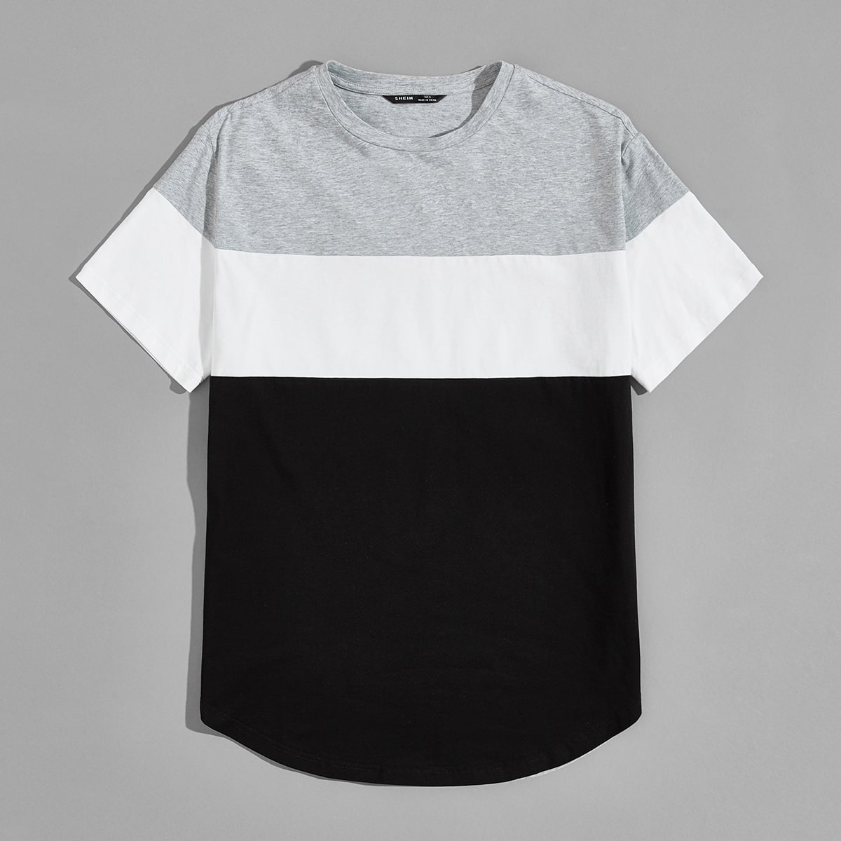 Мужская контрастная футболка