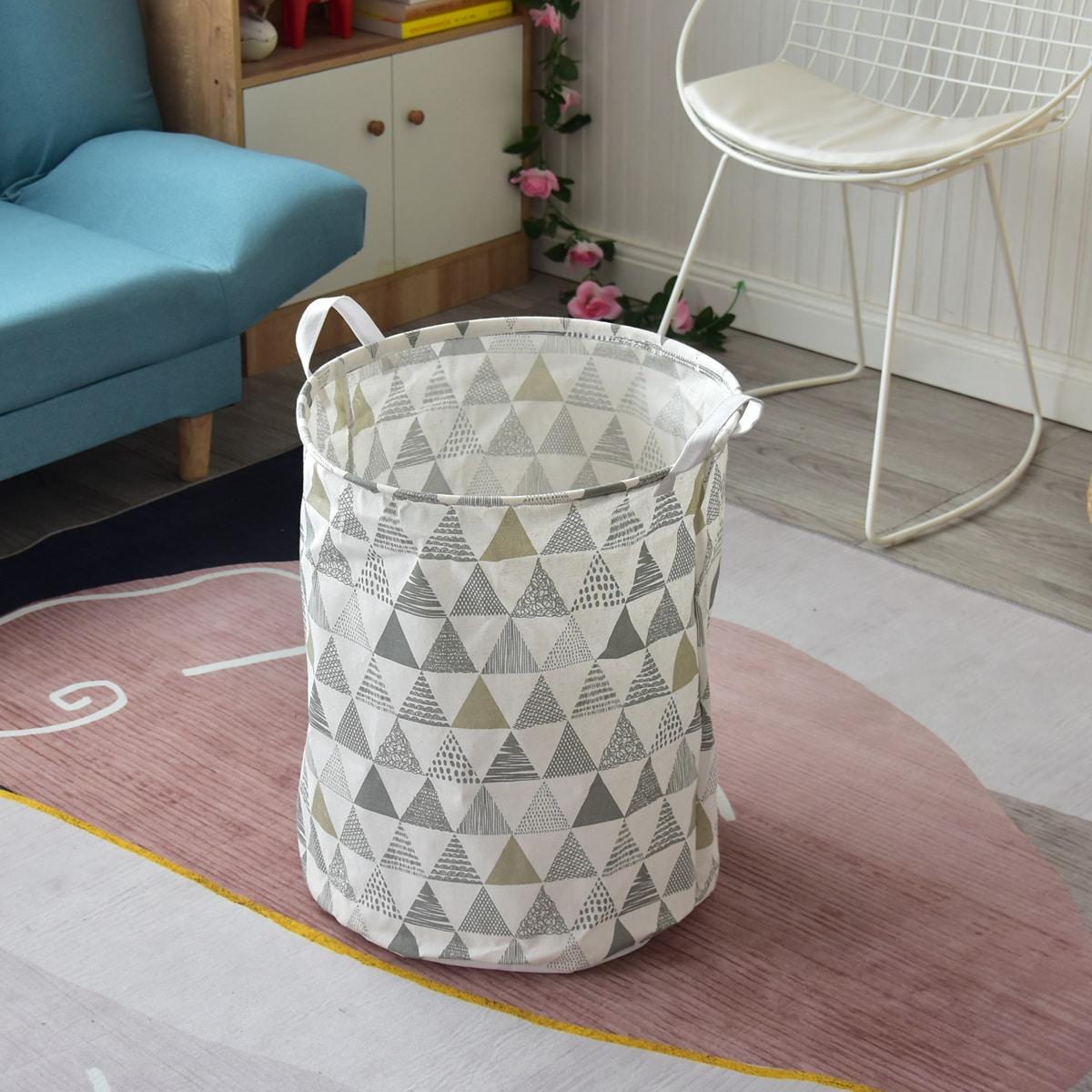 Складная корзина для белья с геометрическим рисунком