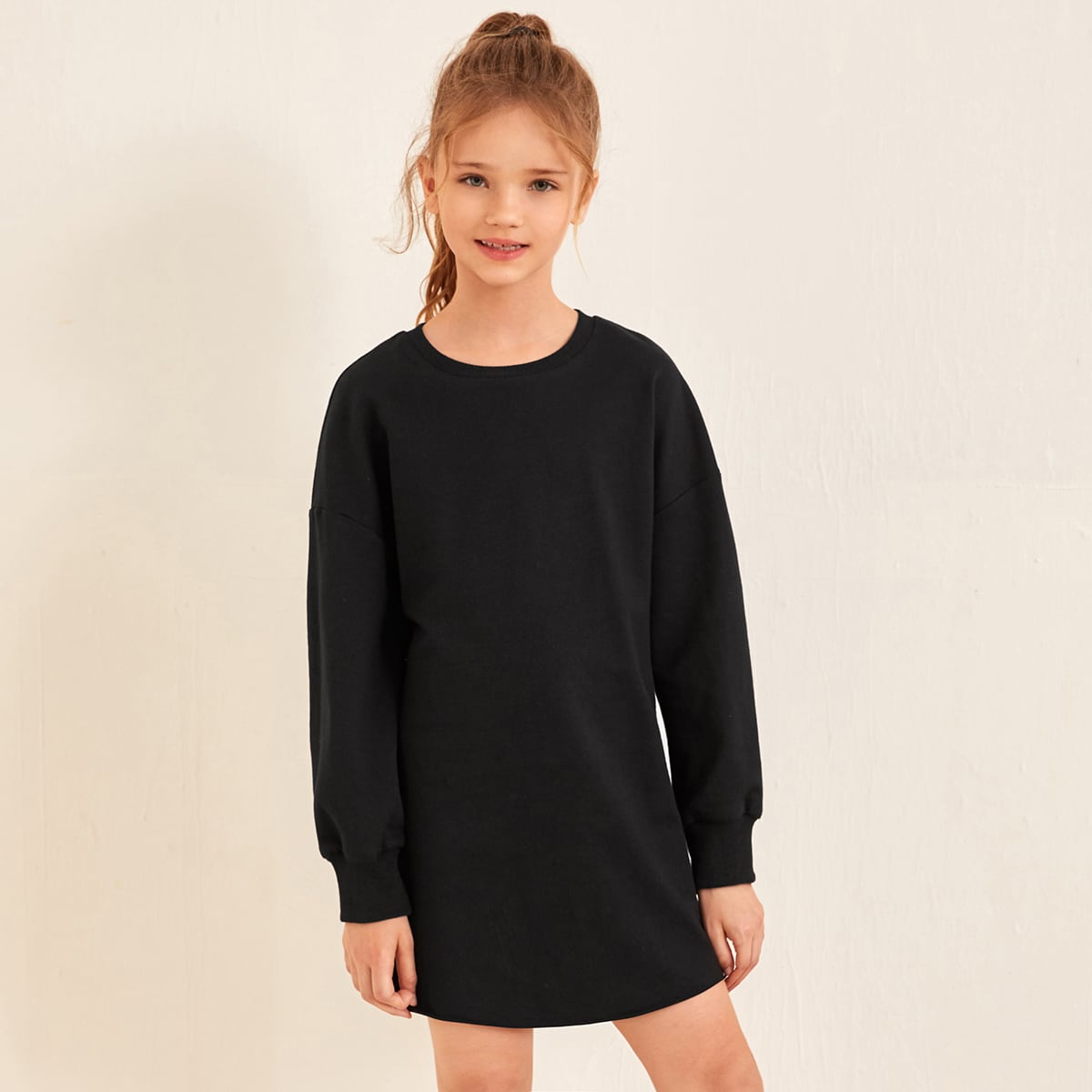 Robe sweat-shirt unicolore