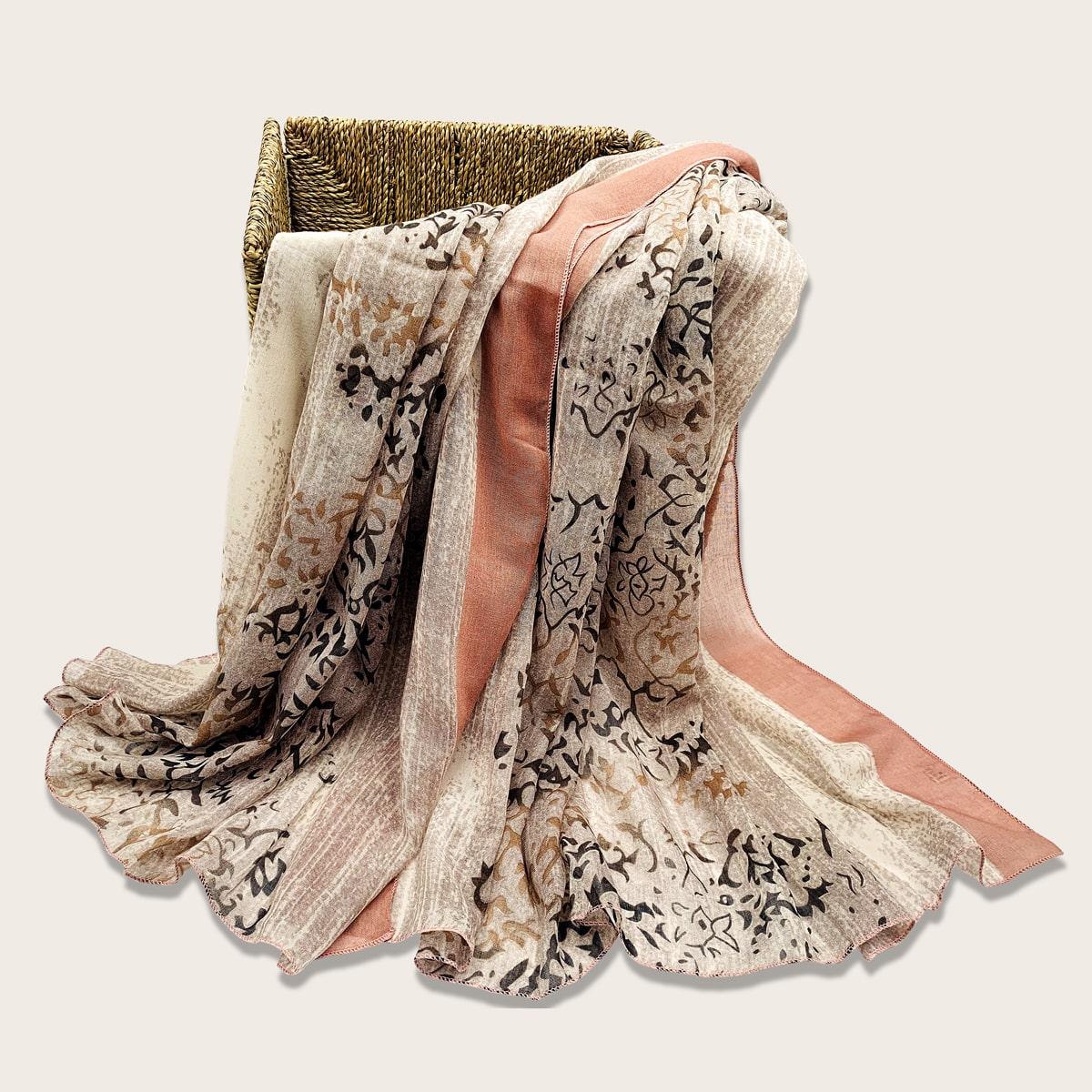 Пляжный шарф с принтом