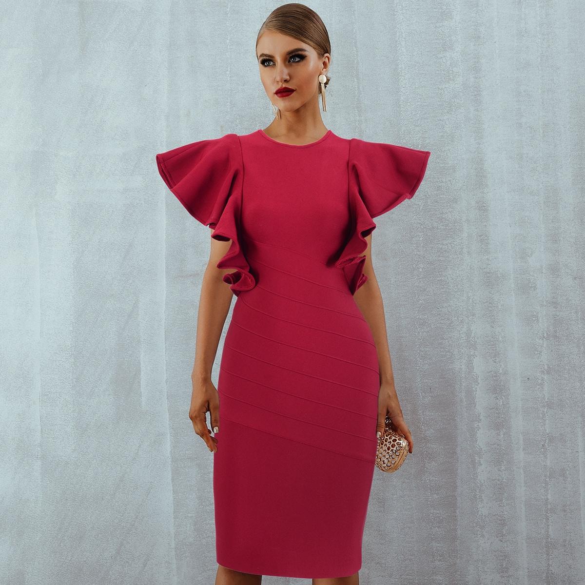 Облегающее платье с обоками