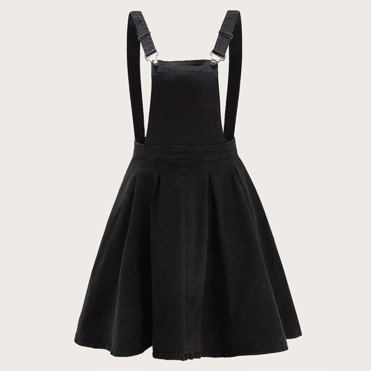 Джинсовое платье-сарафна размера плюс